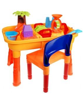 Pieskovisko so stolom a stoličkou
